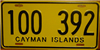 Cayman Islands License Plate
