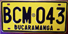 Bucaramanga Colombia License Plate