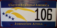 Johnston Atoll License Plate