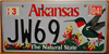 Arkansas Hummingbird License Plate