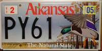 Arkansas Mallard Duck License Plate