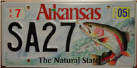 Arkansas Trout License Plate