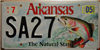 Arkansas Trout Fish Wildlife Environmental License Plate