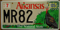 Arkansas Turkey License Plate