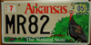 Arkansas Wild Turkey Wildlife Environmental License Plate