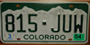Colorado Snow Covered License Plate