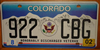 Colorado Honorably Discharged Veteran License Plate