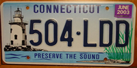 Connecticut Lighthouse License Plate