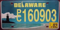 Delaware Lighthouse License Plate