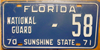 Florida National Guard License Plate
