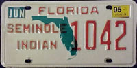 Florida Seminole Indian Tribe License Plate