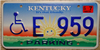 Handicapped Wheelchair Kentucky License Plate