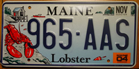 Maine Lobster Specialty License Plate