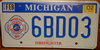 Michigan Firefighter License Plate