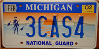 Michigan National Guard License Plate