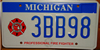 Michigan Professional Firefighter License Plate