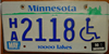 Minnesota whellchair handicapped License Plate