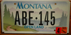 Montana Open Land License Plate