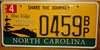 North Carolina Blue Ridge Parkway License Plate