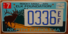 North Carolina Rocky Mountain Elk  License Plate