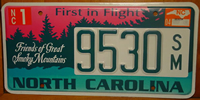 North Carolina Friends of Smoky Mountains License Plate