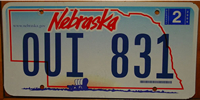 Nebraska Covered Wagon License Plate