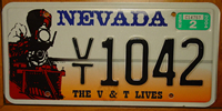 Virginia & Truckee Railroad Train Nevada License Plate