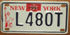 New York Statue Of Liberty Motorcycle License Plate