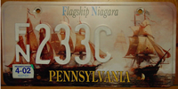 Pennsylvania Flagship Niagara License Plate