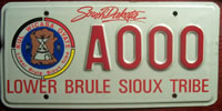 South Dakota Lower Brule Sioux Tribe License Plate