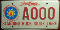 South Dakota Standing Rock Sioux Tribe License Plate