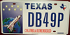 Texas Colombia Space Shuttle Remembered  License Plate