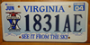 Virginia Aviation License Plate
