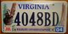 Virginia Wildlife Bear  License Plate
