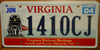 Virginia Railway Heritage Railroad Train License Plate
