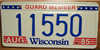 Wisconsin National Guard License Plate