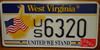 West Virginia United We Stand License Plate